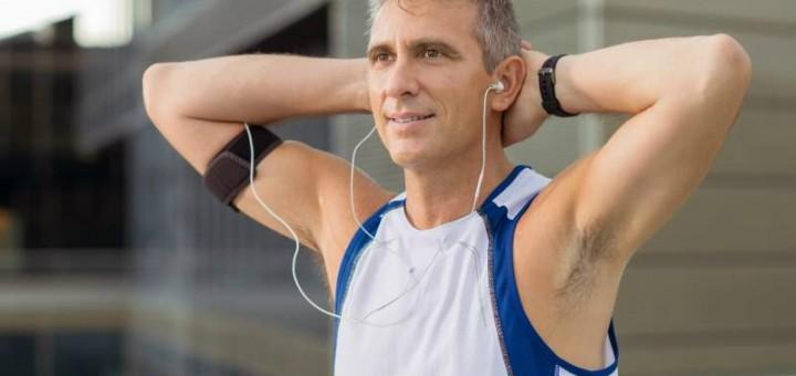 man wearing natural deodorant