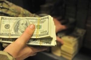 military combat cash