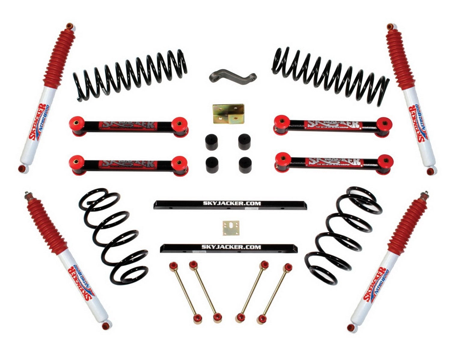 skyjacker 4inch lift pallet kit tj401bph